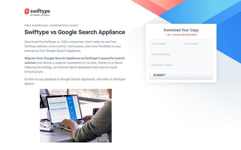 Swiftype vs Google Search Appliance