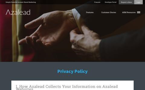 Privacy Policy   Azalead