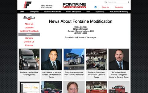 Screenshot of Press Page fontainemodification.com - Fontaine News - captured Aug. 19, 2018