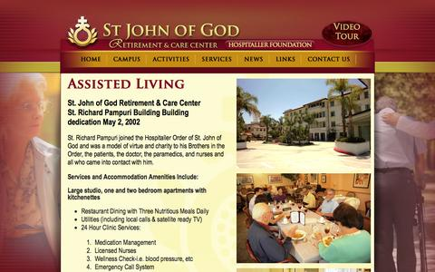 Screenshot of Services Page stjog.org - St John of God - captured Oct. 6, 2014