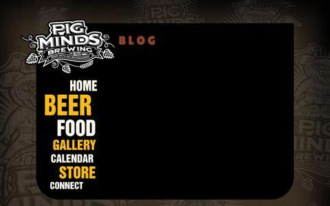 Screenshot of Blog pigmindsbrewing.com - Pig Minds Brewing Co. - Blog - captured Nov. 2, 2014