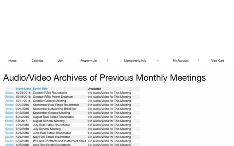 Audio Archives Of Previous Meetings