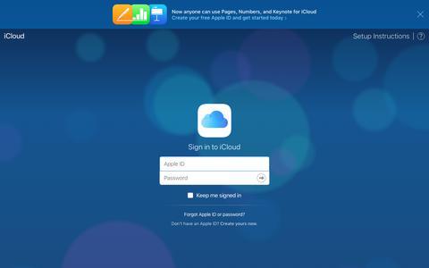 Screenshot of Home Page icloud.com - iCloud - captured Oct. 10, 2017