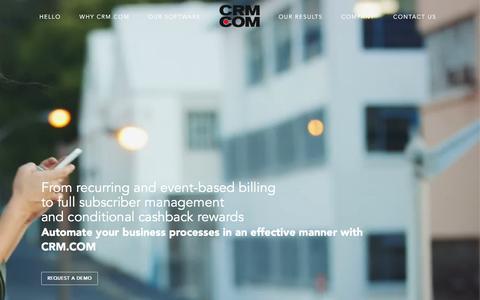 Screenshot of Home Page crm.com - CRM.COM – Billing. Rewards. Collaboration. - captured Sept. 4, 2016