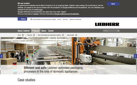 Screenshot of Case Studies Page liebherr.com - Case studies from gear cutting technology & automation - Liebherr - captured Aug. 24, 2019