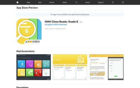 HMH Close Reads: Grade 6 on the App Store