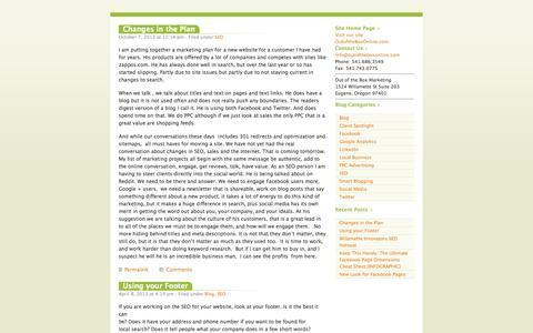 Screenshot of Blog outoftheboxonline.com captured Nov. 5, 2014
