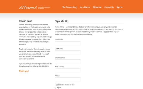 Screenshot of Signup Page sttones.org - Join - Sttones - captured Oct. 8, 2014