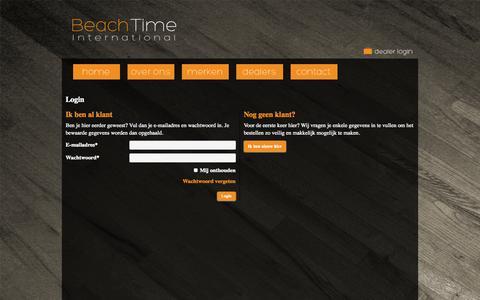 Screenshot of Login Page beachtime.nl - Beach Time International - captured Oct. 5, 2014