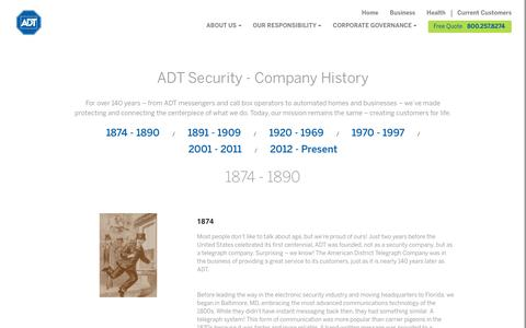 ADT History - ADT Security Services