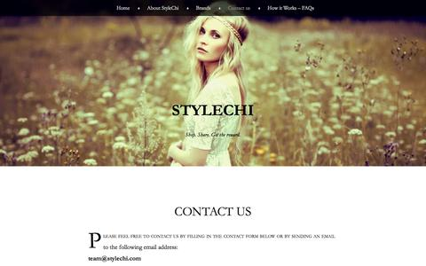 Screenshot of Contact Page stylechi.com - Contact us | StyleChi - captured Sept. 17, 2014
