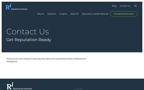 Screenshot of Contact Page reputationinstitute.com - Contact Us   Reputation Institute - captured Sept. 19, 2018