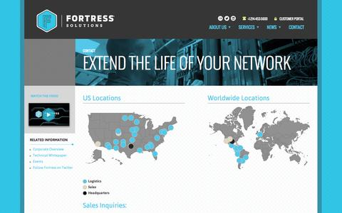 Screenshot of Contact Page fortsol.com - Contact | Fortress Solutions - captured Oct. 1, 2014