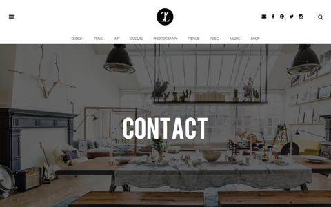 Screenshot of Contact Page trendland.com - Contact Us | Trendland - captured Oct. 2, 2015
