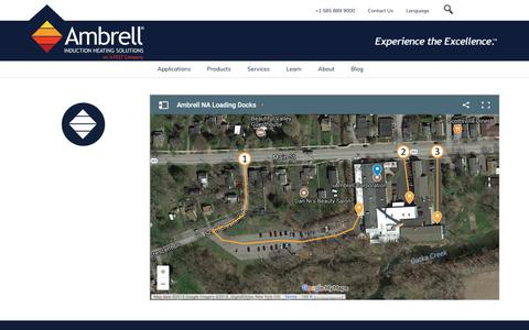Screenshot of Maps & Directions Page ambrell.com - Loading Docks - captured April 23, 2018