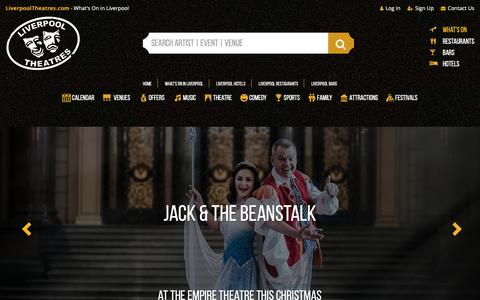 Screenshot of Home Page Locations Page liverpooltheatres.com - LiverpoolTheatres.com - captured Oct. 24, 2018