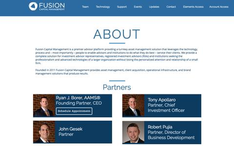 Screenshot of About Page fusioncm.com - About Fusion Capital Management - captured Oct. 11, 2018