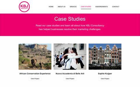 Screenshot of Case Studies Page kbjconsult.com - KBJ Consultancy Case Studies - KBJ Consultancy - captured Oct. 16, 2017