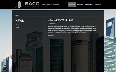 Screenshot of Press Page baccbuilders.com - BACC Builders | News - captured Sept. 30, 2014