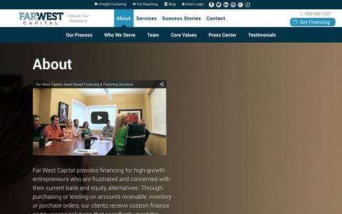 Screenshot of About Page farwestcapital.com - Small Business Factoring - What is Factoring? | Far West Capital - captured Jan. 8, 2016