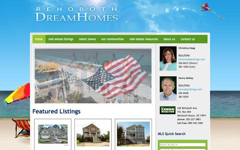 Screenshot of Home Page rehobothdreamhomes.com - Rehoboth Dream Homes - captured Oct. 6, 2014