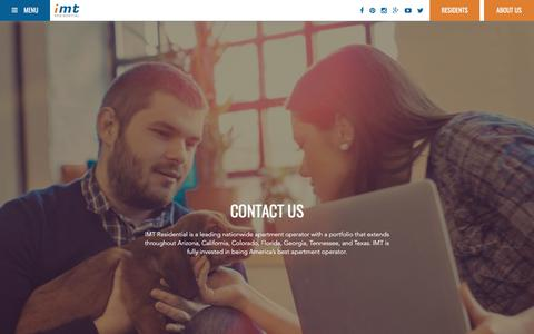 Screenshot of Contact Page imtresidential.com - Contact - IMT Residential - captured July 26, 2018