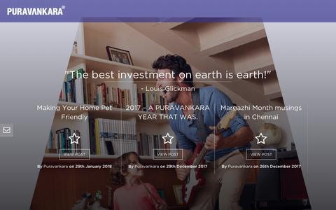 Screenshot of Blog puravankara.com - Real Estate Blog | Puravankara Ltd - captured Feb. 16, 2018