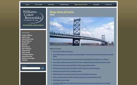 Screenshot of Press Page wcblegal.com - News + Events » Williams Cuker Berezofsky - captured Nov. 5, 2014