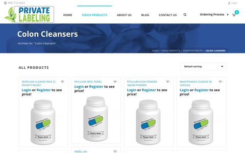 Colon Cleansers Archives - Private Label Supplements and Vitamins