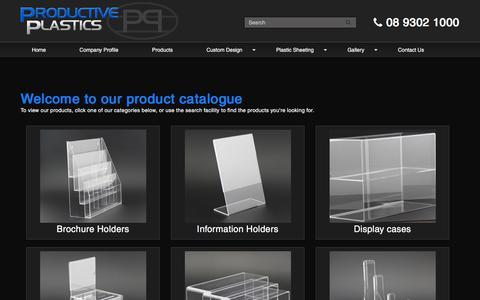 Screenshot of Products Page productiveplastics.com.au - Shop - captured July 1, 2018