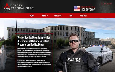 Screenshot of About Page victorytacticalgear.com - About Us  – Victory Tactical Gear LLC - captured Feb. 25, 2016