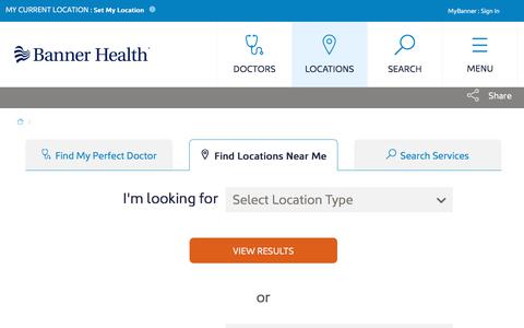 Screenshot of Locations Page bannerhealth.com - Locations | Banner Health - captured March 2, 2018
