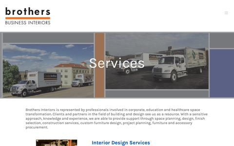 Screenshot of Services Page brothersinteriors.com - Services - Brothers Interiors - captured Oct. 6, 2018