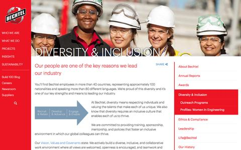 Diversity & Inclusion - Mutual Respect  - Bechtel