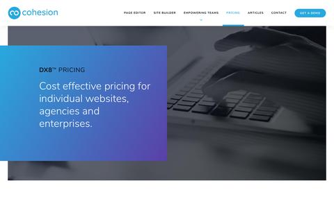 Screenshot of Pricing Page cohesiondx.com - Pricing | Cohesion - captured Nov. 3, 2018