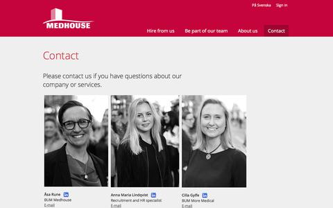 Screenshot of Contact Page medhouse.com - Contact - Medhouse - captured Sept. 20, 2018