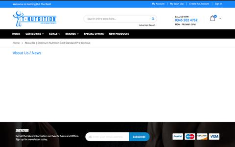 Screenshot of About Page t-nutrition.com - About Us | Optimum Nutrition Gold Standard Pre Workout - captured Oct. 14, 2017