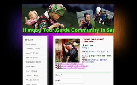 Screenshot of Contact Page jimdo.com - CONTACT US - Sapa Group Trekking Tour Daily - captured Sept. 16, 2014