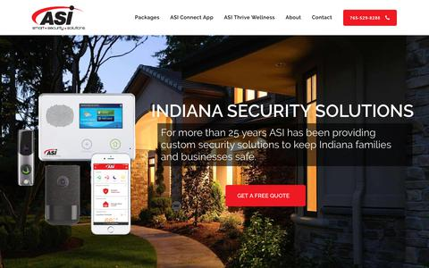 Screenshot of Home Page asisecurity.solutions - Home Security Solutions Indiana - ASI Security Solutions - captured Nov. 12, 2018