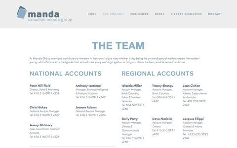 Screenshot of Team Page mandagroup.com - The Team — Manda Group - captured Jan. 24, 2016