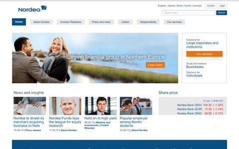 Nordea Group – Nordic financial services | nordea.com