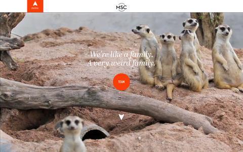 Screenshot of Team Page mscretail.com - MSC Retail - captured Nov. 18, 2015