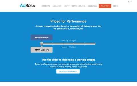 Screenshot of Pricing Page adroll.com - Dynamic CPM Pricing | AdRoll - captured Nov. 14, 2015