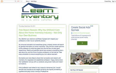 Screenshot of Blog learninventory.com - Learn Inventory - captured Sept. 29, 2014