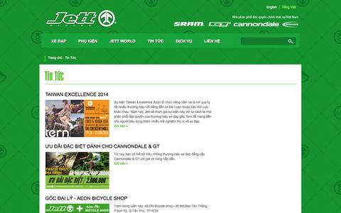 Screenshot of Press Page jett-cycles.com - Tin Tức | Jett Cycles - captured Sept. 30, 2014