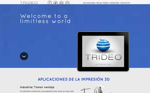 Screenshot of Home Page trideo3d.com - Trideo - Impresión 3D en Buenos Aires - 3D Printing in Buenos Aires - captured Oct. 7, 2014