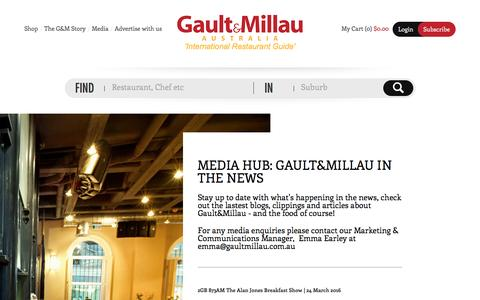 Screenshot of Press Page gaultmillau.com.au - Gault&Millau Australia - captured Oct. 26, 2016