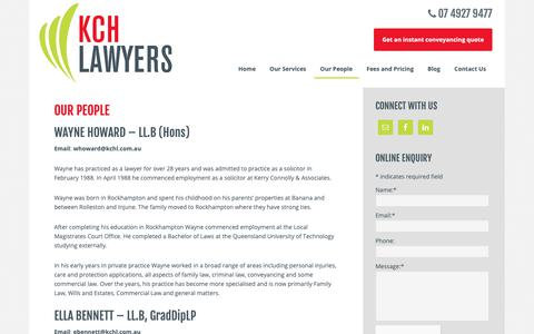 Screenshot of Team Page kchl.com.au - Our People | Rockhampton Lawyers | KCH Lawyers - captured Oct. 15, 2018