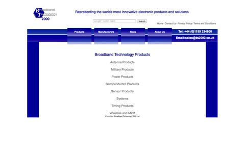 Screenshot of Products Page bt2000.co.uk - Broadband Technology 2000 Ltd - Innovative Electronic Products and Solutions - captured Oct. 5, 2014