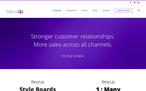 Screenshot of Products Page bevyup.com - Product | BevyUp - captured Oct. 10, 2017